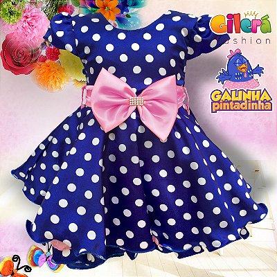 Vestido Infantil para Festa Galinha Pintadinha Rosa