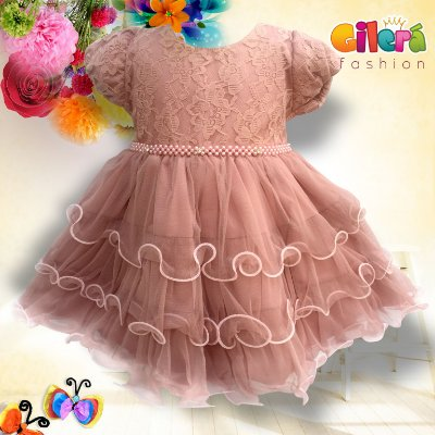 95932243684 Vestido Infantil de Festa de Luxo Vinho e Creme - Gilerá Fashion ...