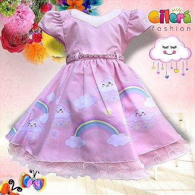 Vestido Infantil de Festa Luxo Chuva de Amor - Bênção