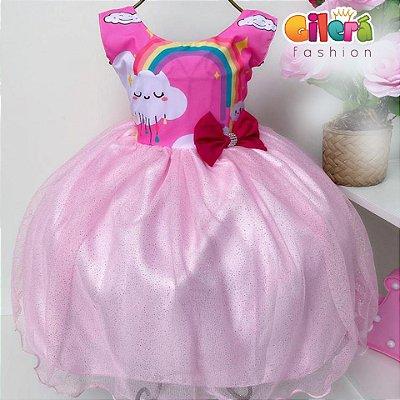 Vestido Infantil de Festa Chuva de Amor