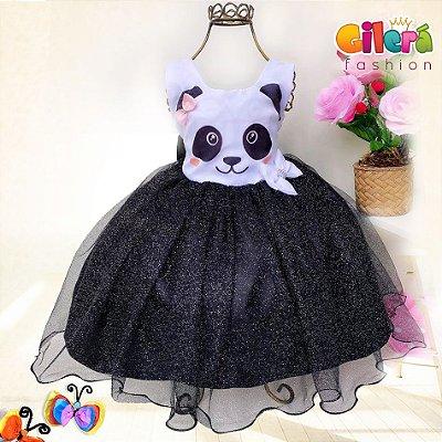 Vestido Infantil Tema Panda