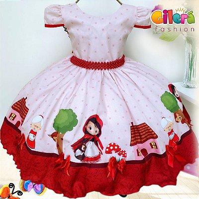 Vestido Infantil Tema Chapeuzinho Vermelho