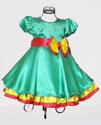 Vestido Infantil de Festa Tema Patatá