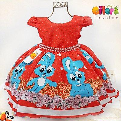 Vestido Infantil de Festa Sansão Vermelho