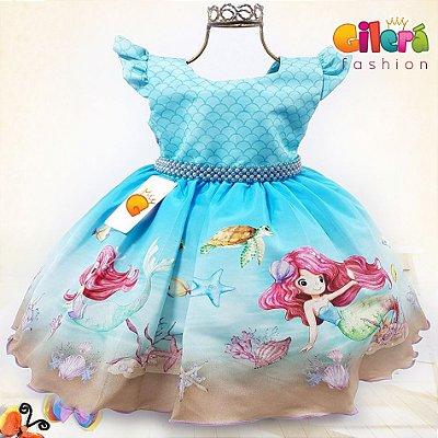 Vestido Infantil Tema Sereia