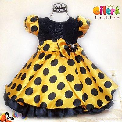 Vestido Infantil de Festa Abelhinha