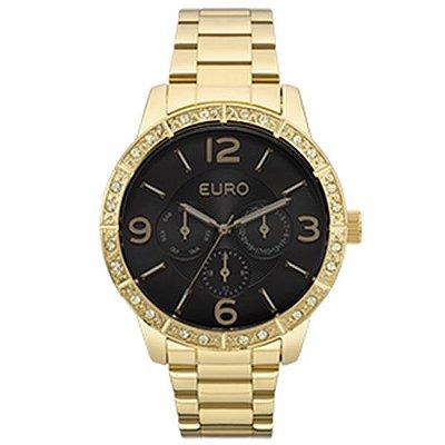 4edc1f4bcaf82 Relógio Feminino Euro Sabrina Sato-Preto Eubj3279ab 4p - Retran Joias