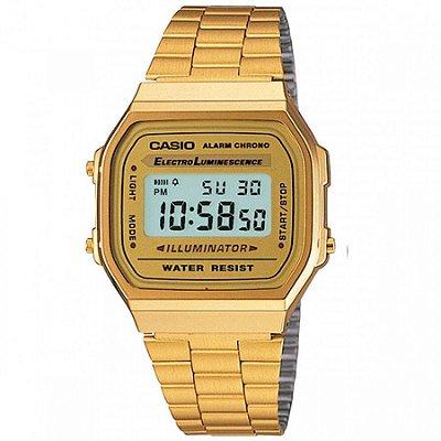f32caffab62 Relógio Casio Digital Vintage Dourado A168WG9WDFU