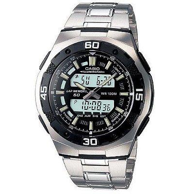 805754fc604 Relógio Casio Masculino Aq164wd1avdfu