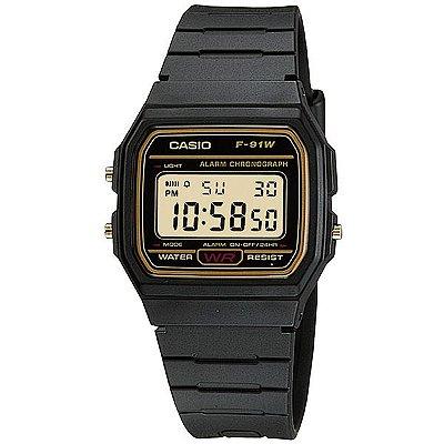 9801e3d8c9a Relógio Casio Masculino Preto Dourado W96h9avdfu - Retran Joias