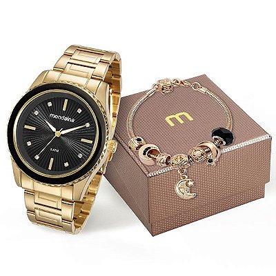8cb5b2148e9 Kit Relógio Mondaine Feminino 76568lpmvde5