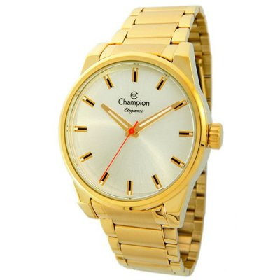 77b572de751 Relógio Champion Feminino Dourado Elegance Analógico Cn26813h ...