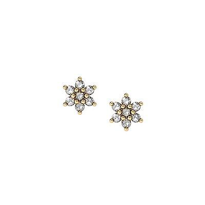 083a36da37c48 Brinco Flor Ouro 18k Diamantes - cod.4372
