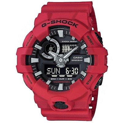 aeccc7668e9 Relógio Casio Masculino G-Shock Vermelho Ga7004adr
