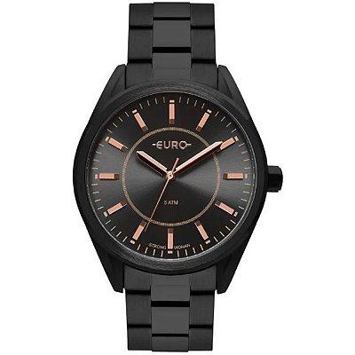 d2a03ba8e1c95 Relógio Euro Feminino Strong Spikes Preto Fosco Eu2035ypy 4p