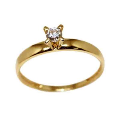 afdeef7601c73 Anel Solitário Ouro 18k Diamante 15 Pontos - cod.8664 - Retran Joias