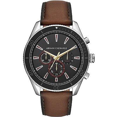 444fa2ebc9f Relógio Armani Exchange Masculino Prata Marrom Ax1822 0mn