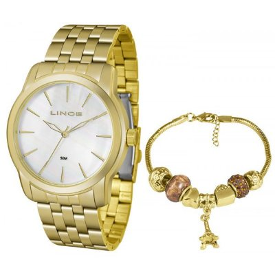 4df6a97db35 Relógio Lince Feminino Dourado Lrg4551l Ku87