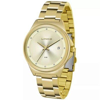 31a913cbf0312 Relógio Lince Feminino Dourado Lrg4567l C1kx