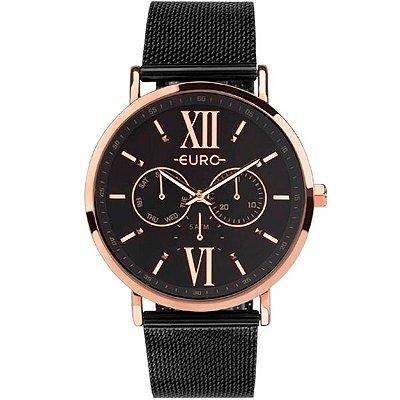4664a5ecacb23 Relógio Euro Feminino Preto Rosê Eu6p29ahg 5p