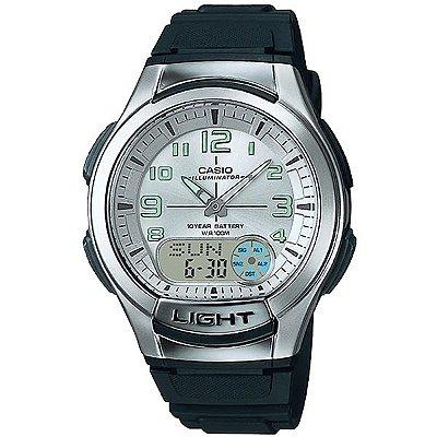 d8202fd7fd9 Relógio Casio Masculino Prata Preto Aq180w7bvdfu