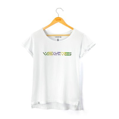"Camiseta Feminina ""Vegas Brasil"""
