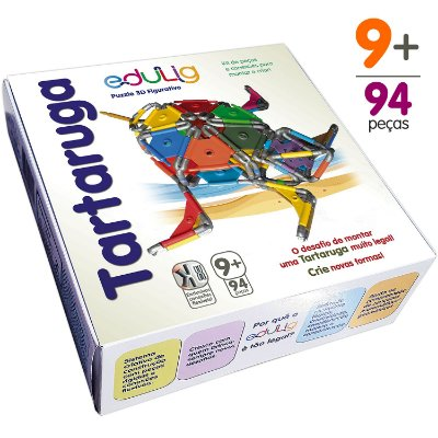 Kit Edulig Puzzle 3D Tartaruga