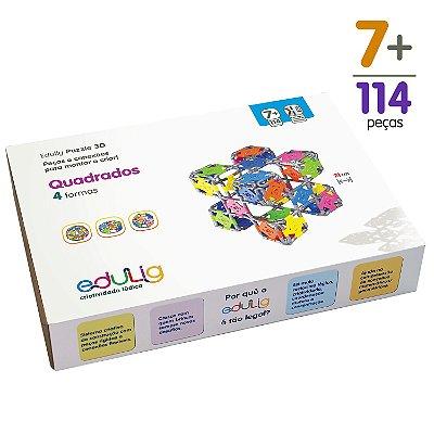 Quebra-cabeça Edulig Puzzle 3D Quadrados