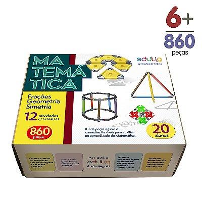 Brinquedo Educativo Edulig Matemática 20 alunos - com Manual do Professor