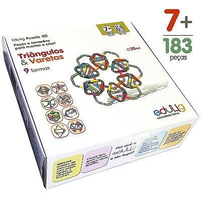 Quebra-cabeça Edulig Puzzle 3D Triângulos & Varetas