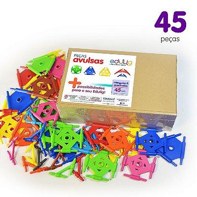 Edulig Puzzle Peças Avulsas - Triângulos e Quadrados