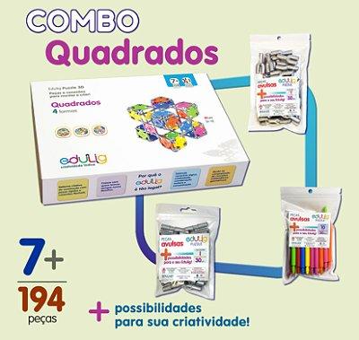 Combo Quadrados + Conexões Y + Conexões I + Varetas 10 cm