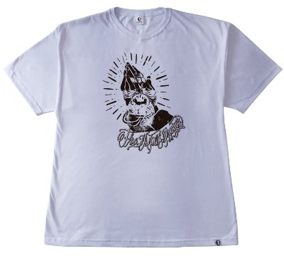 219. CAMISETA BRANCA THE APES PRAYER