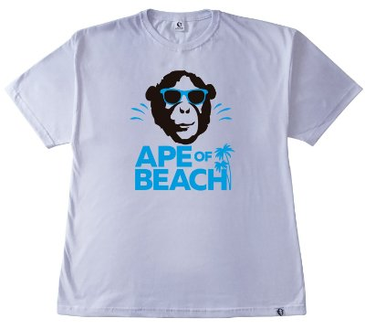 201. CAMISETA BRANCA APE OF BEACH