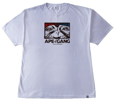 207. CAMISETA BRANCA APE OF GANG
