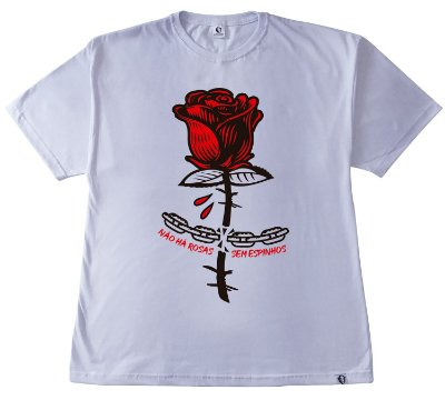 211. CAMISETA BRANCA APE OF ROSE