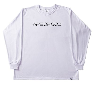124. CAMISETA MANGA LONGA BRANCA APE OF GOD