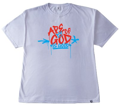 160. CAMISETA BRANCA APE OF GOD IS GOOD