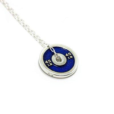Anilha 45lb Azul