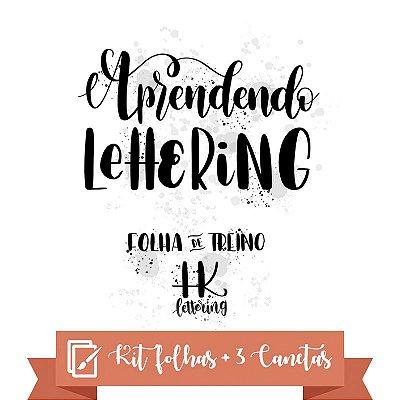 Kit iniciante de Lettering - Alfabetos / Palavras / 3 canetas