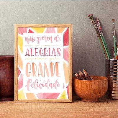 """Poster """"Grande felicidade"""""""