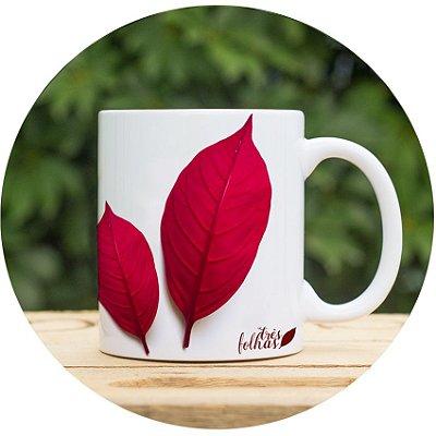 PERSONALIZE| Três Folhas Vermelhas