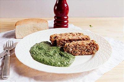 Bolo de Carne + Creme de Espinafre 300g | Porção Individual