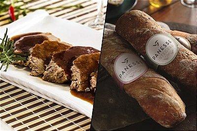 Combo 3: Carne Assada 300g + Pão Panesse | Serve duas pessoas