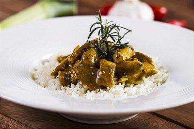 Filé de Frango ao Curry Picante + Arroz Branco 300g | Porção Individual | Produto acondicionado a vácuo