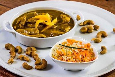Peito de Frango ao Curry (Light) + Arroz Integral com Cenoura 300g | Porção Individual  | Produto congelado e acondicionado a vácuo
