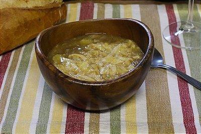 Sopa de Cebola 400ml | Porção Individual | Produto congelado e acondicionado em pote