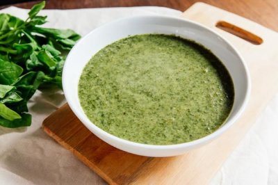 Sopa de Espinafre 400ml | Porção Individual | Produto congelado e acondicionado em pote