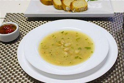 Sopa de Feijão Branco 400ml | Porção Individual | Produto congelado e acondicionado em pote