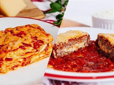 Kit Italiani |Serve duas Pessoas | Produto congelado e acondicionado em bandeja